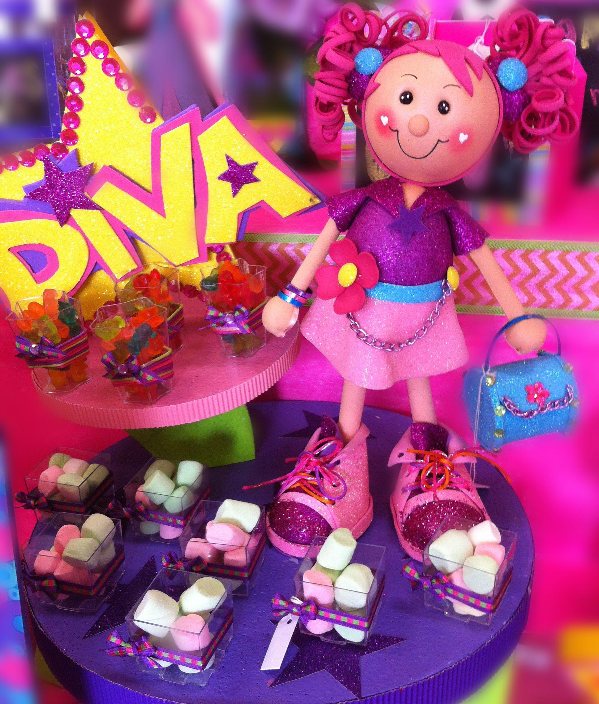 Decoraci n para fiestas infantiles barra de dulces for Decoracion de mesas dulces infantiles