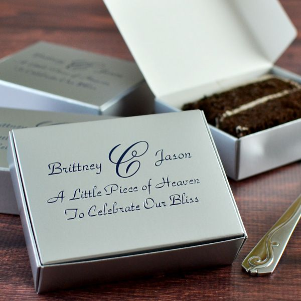 Personalized Wedding Gifts Canada: 5 X 4 Personalized Wedding Cake Slice Favor Boxes