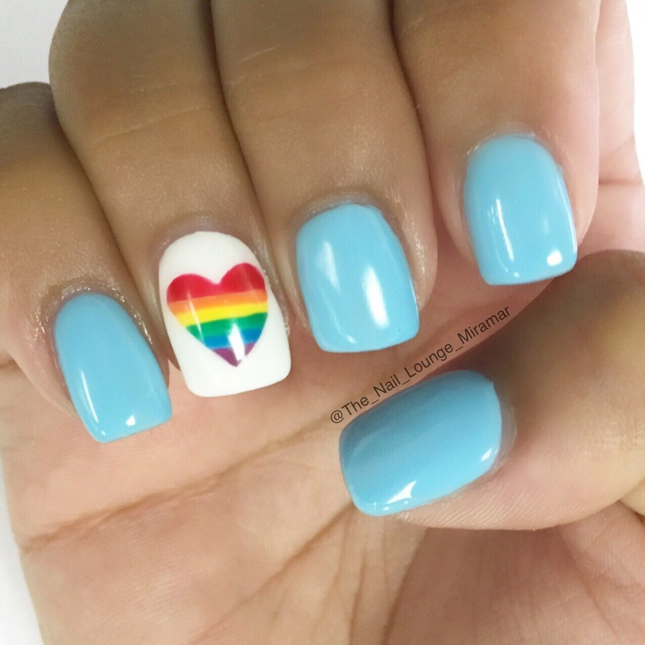 Pride Nail Designs: Rainbow Pride Love Nail Art Design