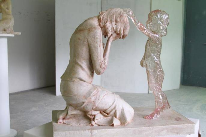 Sculpture of the unborn child By Martin Hudáček from Slovakia
