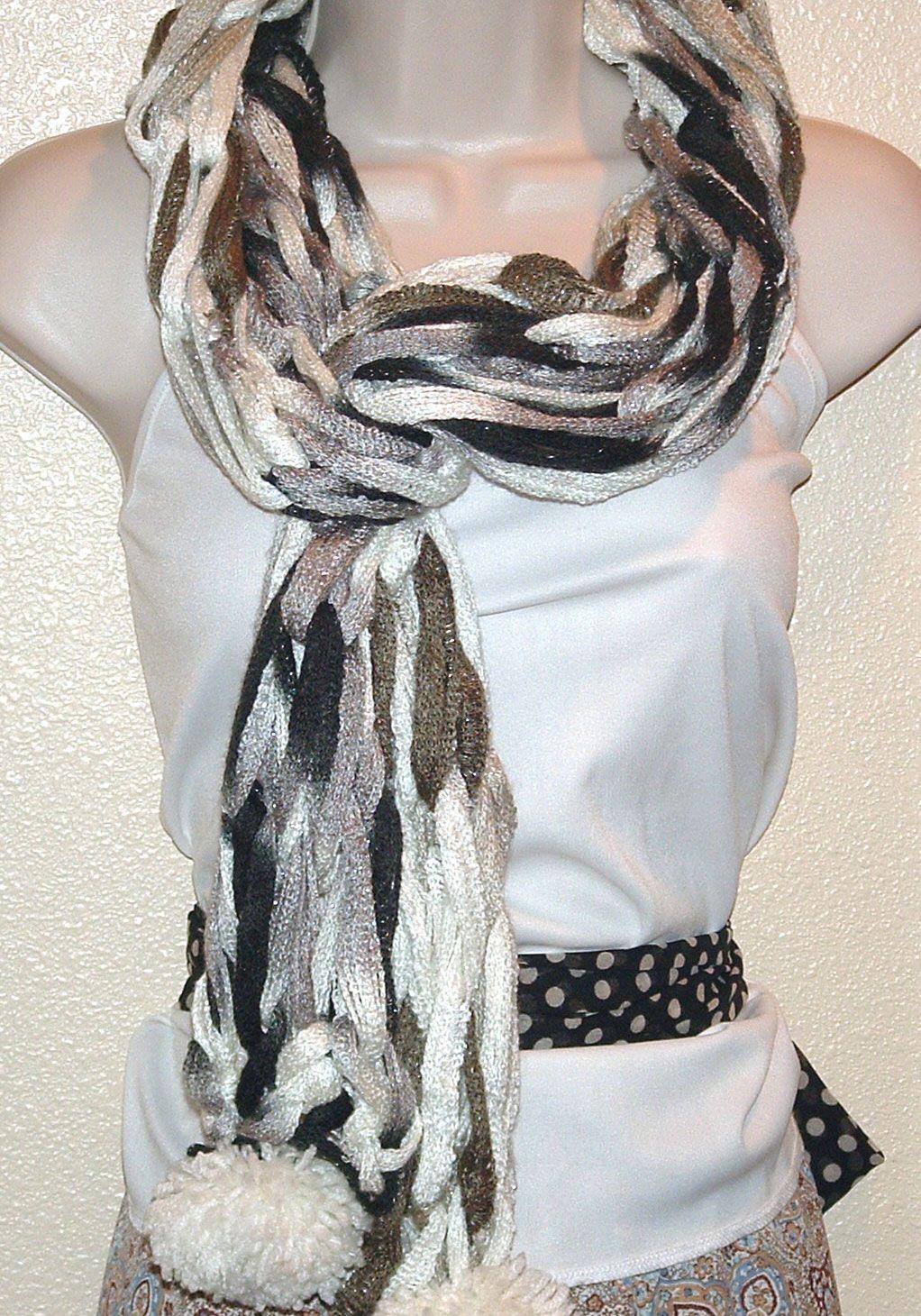 My Arm Knitted Sashay Pom Pom Scarf, I called it \