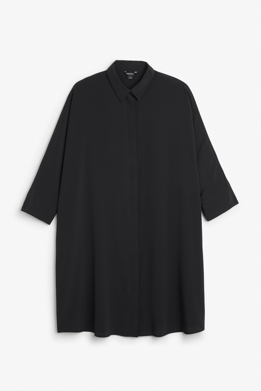 Monki Image 1 of Shirt dress in Black