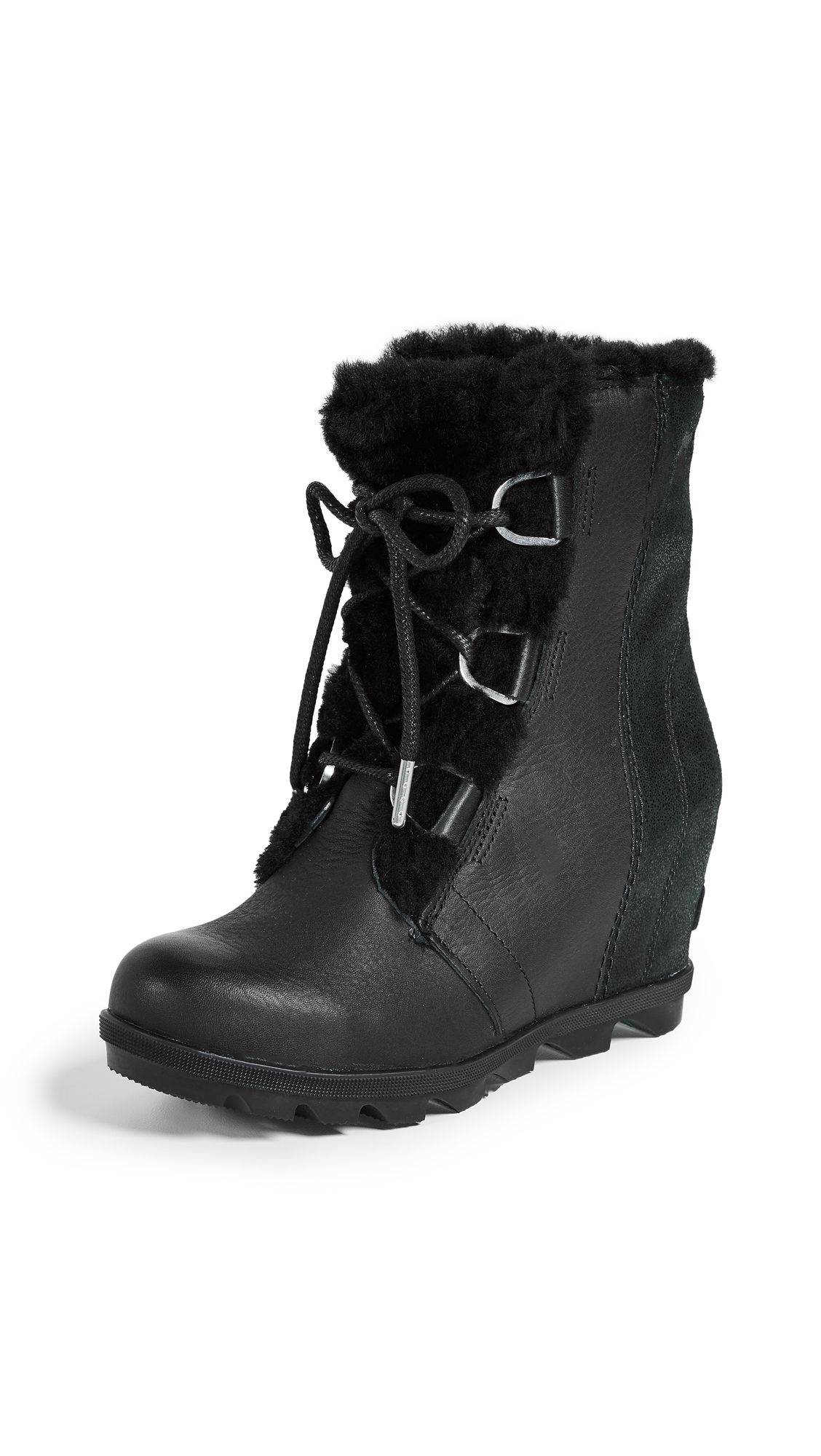 a4f90fb2cb8 Joan of Arctic Wedge II Shearling Boots by Sorel in Black in 2019 ...