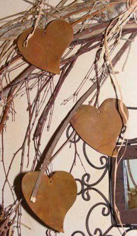 edelrost deko herz zum hängen, geschenkidee mit herz | rost deko, Garten und erstellen