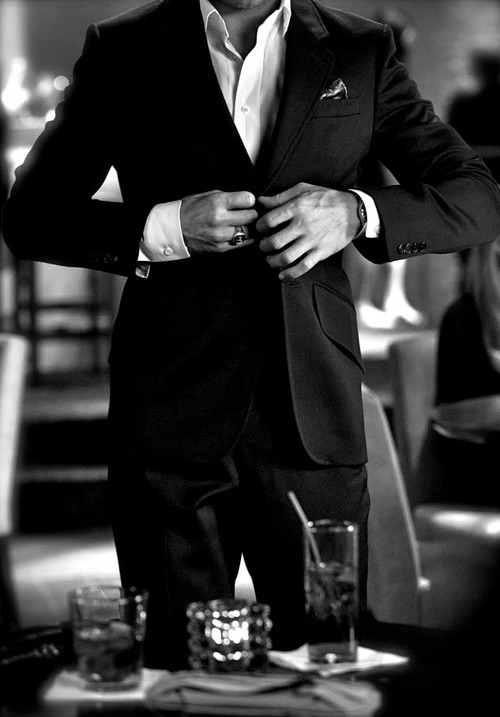 man in suit discovered by sonturaa on We Heart It
