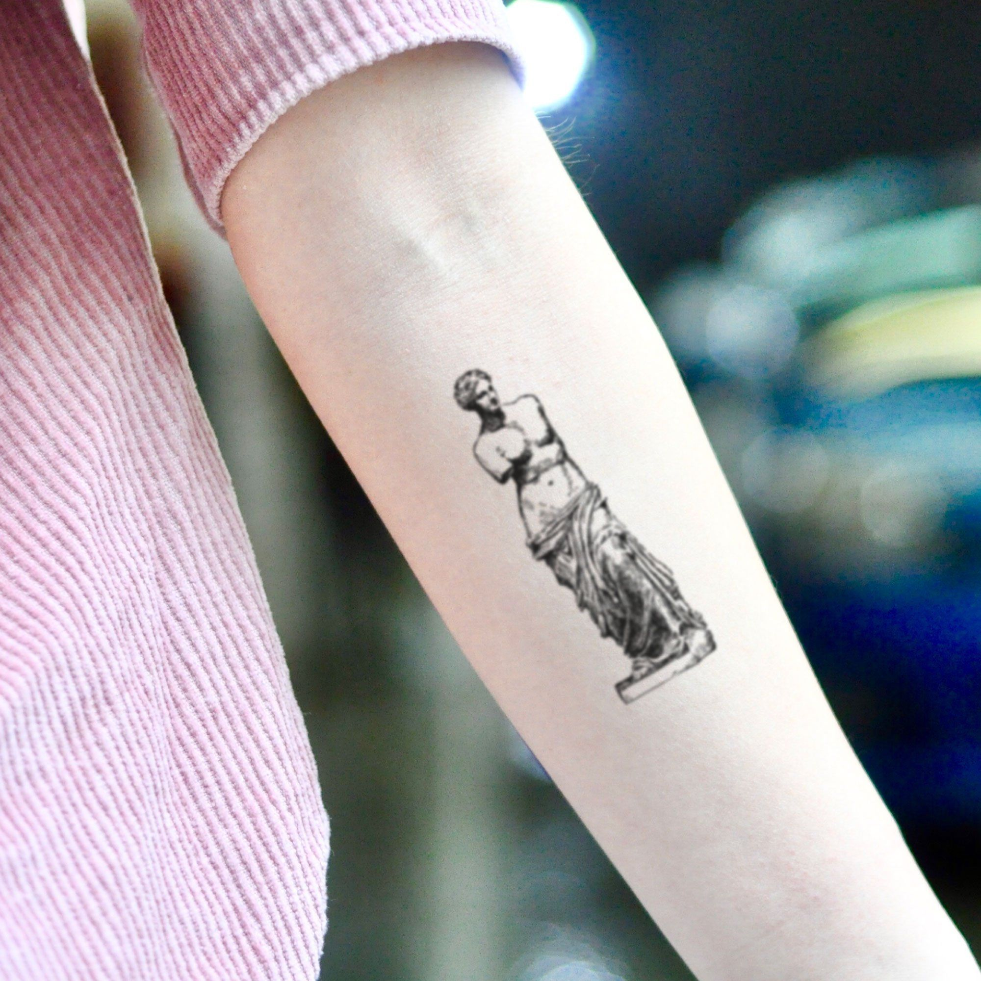 Venus De Milo Temporary Tattoo Sticker (Set of 2) Venus