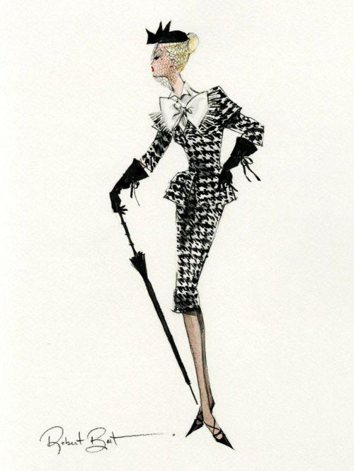 "..design sketch for ""walking suit"" Barbie by robert best.."