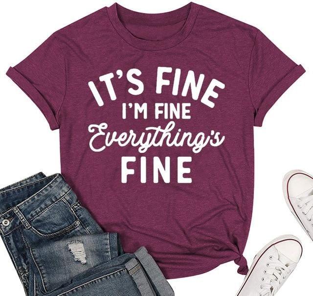 I'm fine everything's fine - Dark Purple / L