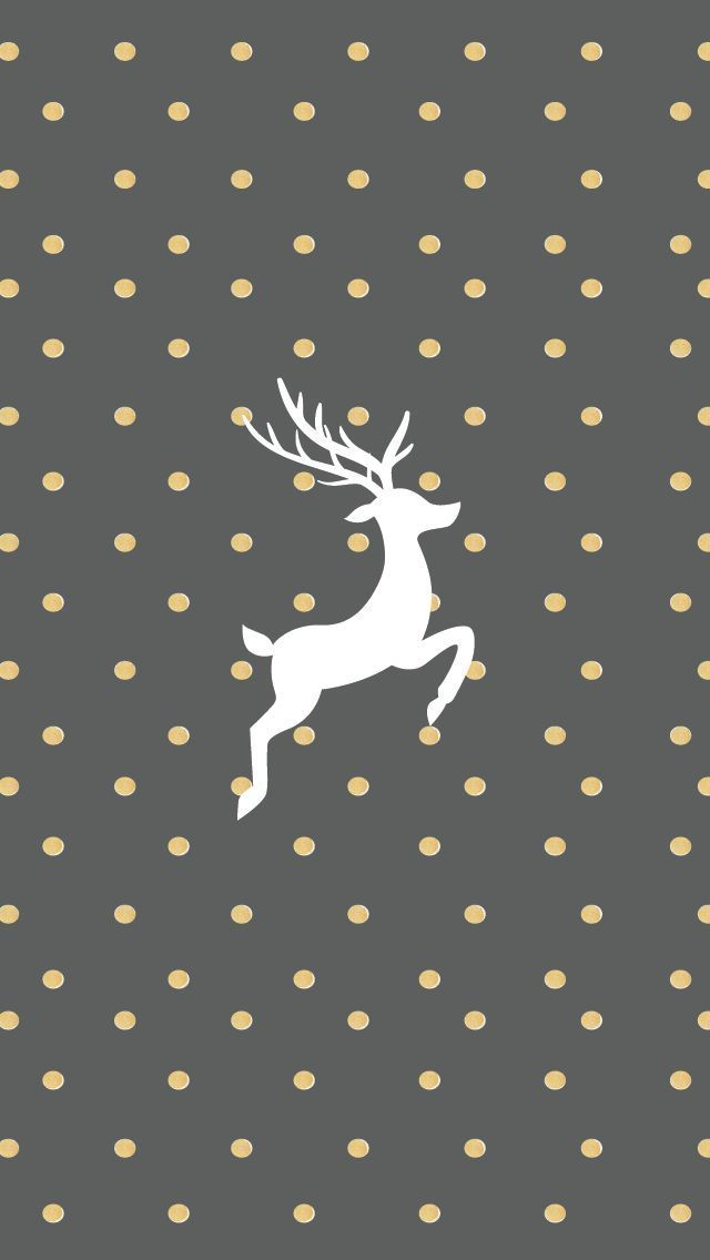 Gold And Grey Reindeer Wallpaper For IPhone Christmas Pictures Ideas Wallpapers Holiday