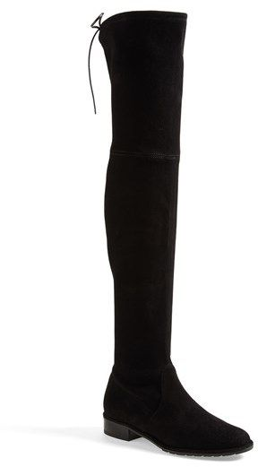 0a672d6fe603 $798, Black Suede Over The Knee Boots: Stuart Weitzman Lowland Over The Knee  Boot. Sold by Nordstrom.