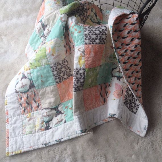 Butterfly Baby Quilt by aylagracefabrics on Etsy