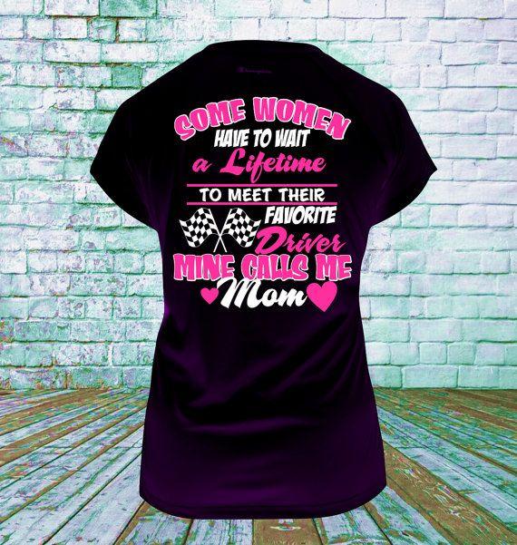 a26fb7ab Racing Mom Favorite Driver T Shirt, Racing Gifts, Dirt Racing, Drag Racing, Race  Car, Motorcross Racing, NASCAR