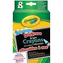 Crayola Dry Erase Bright Crayons Package Of 8 Erase Crayon