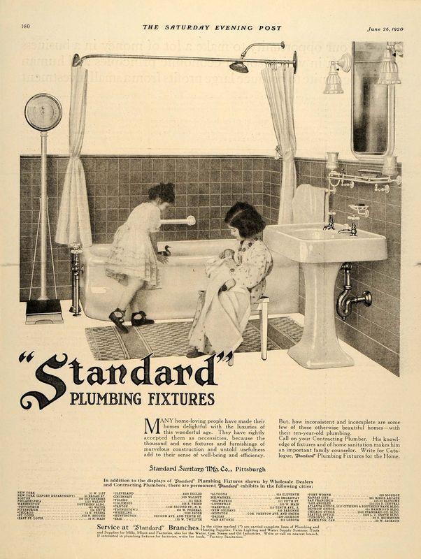 1920 Ad Standard Plumbing Fixtures Children Bathtub   Early 1900s ...