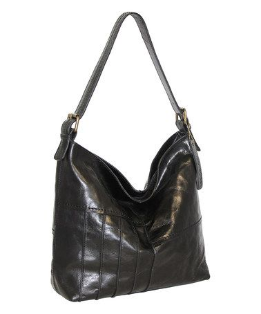 Black Lilac Bouquet Leather Hobo #zulily #zulilyfinds