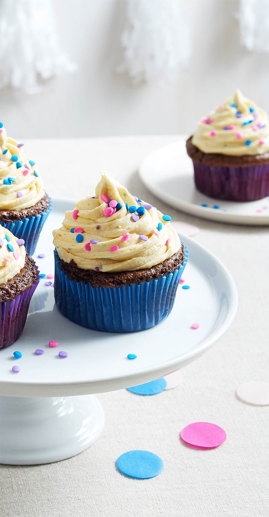 How To Make Chocolate Cupcakes And Frosting Using Just Birthday Cake Cookie Dough Mayonnaise