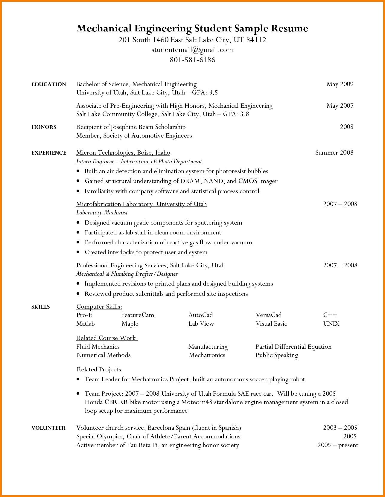The student resume template is very helpful especially if