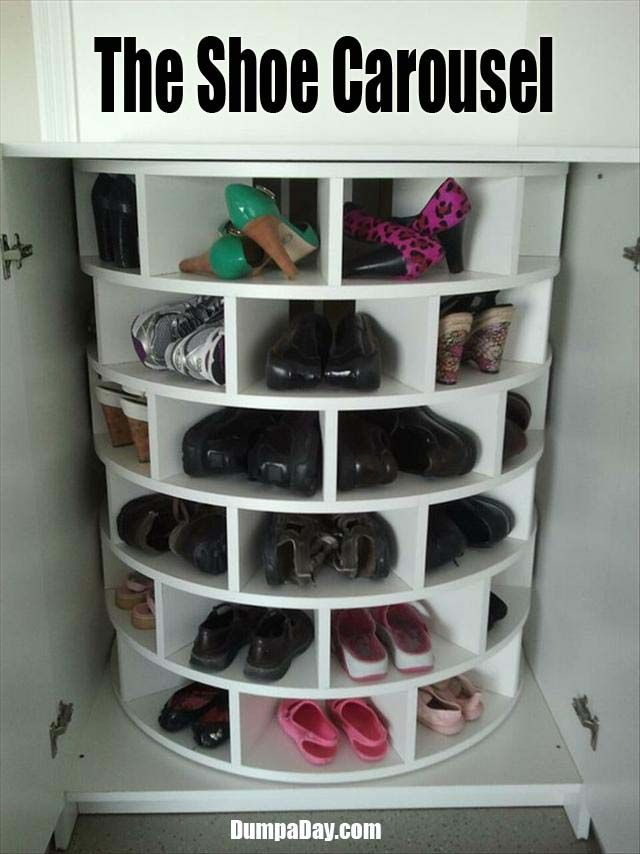 Shoe Carousel -- oh my, is this for real? I must have one!