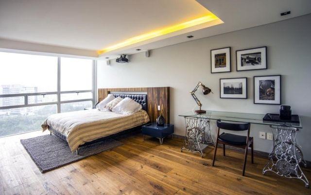 Faux plafond moderne dans la chambre à coucher et le salon | Vintage ...