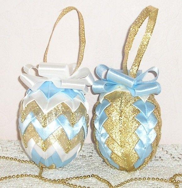 Ribbon Easter Egg, Easter Decor - set of 2 from gofen by DaWanda.com