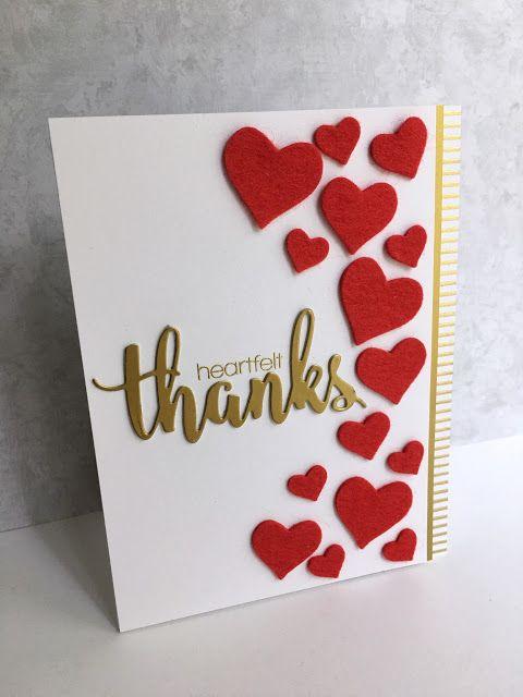 Cas E This Sketch 185 Heartfelt Thanks Valentines Cards