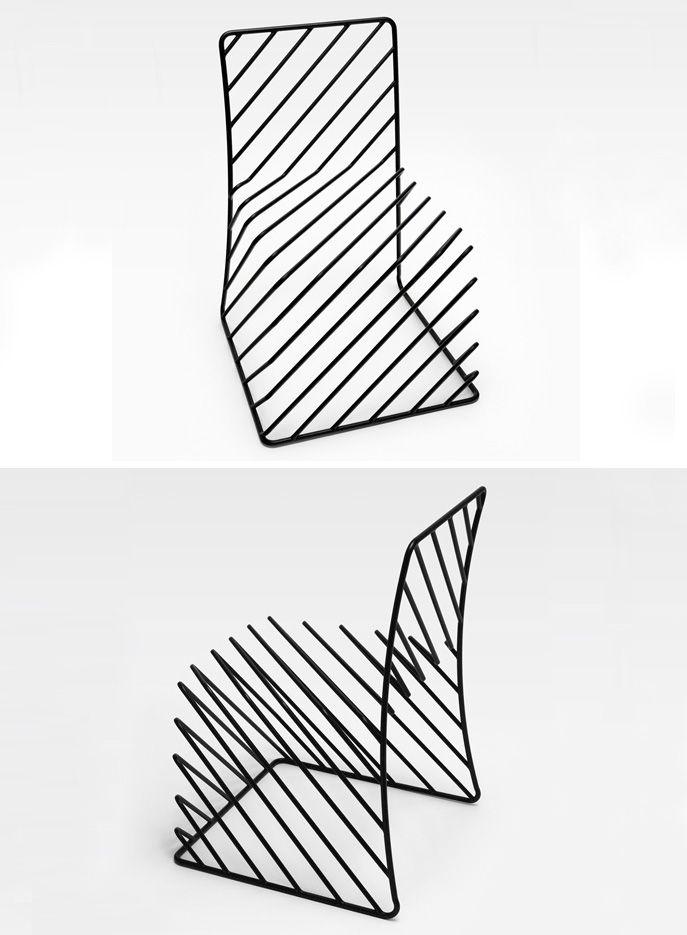 Nendo - Thin Black Lines - Optical Illusion Chair | - illusion ...
