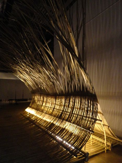 Telepathy Bamboo Installation By Kengo Kuma Kengo Kuma Bamboo