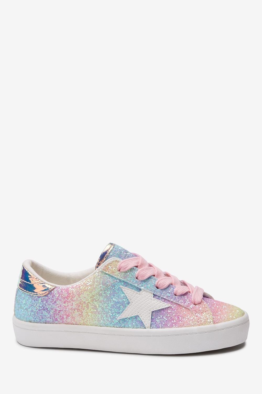 Buy Rainbow Glitter Star Lace-Up