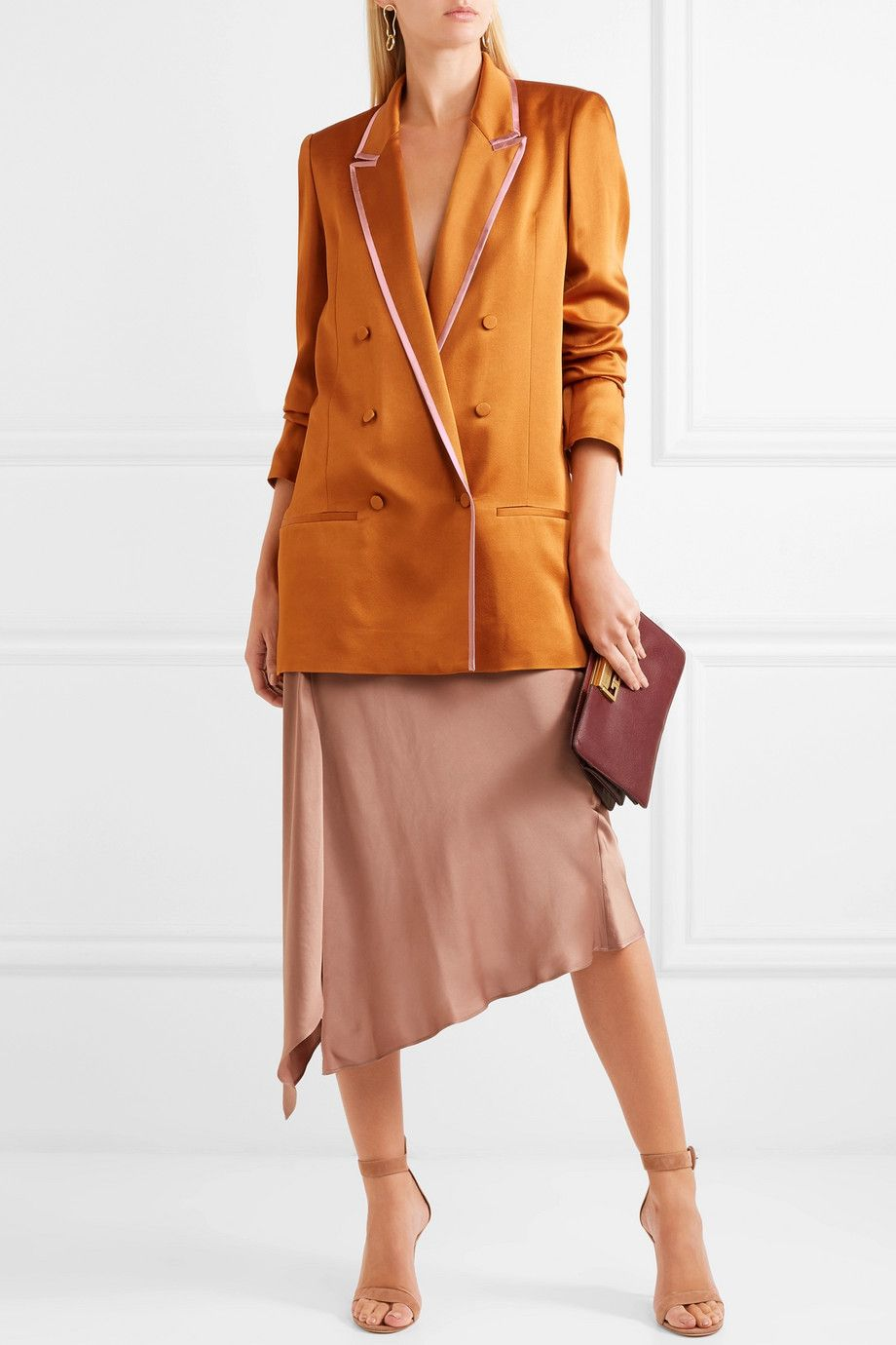 46f10dc5a1b41 Haider Ackermann - Double-breasted two-tone satin blazer in 2019 ...