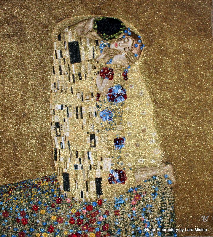 Based on Gustav Klimt\'s painting \