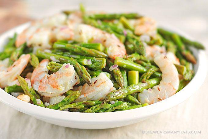 Asparagus and Shrimp Salad Recipe - She Wears Many Hats