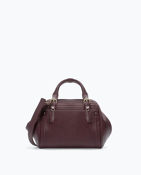 BOWLING BAG WITH QUILTED DETAIL, zara