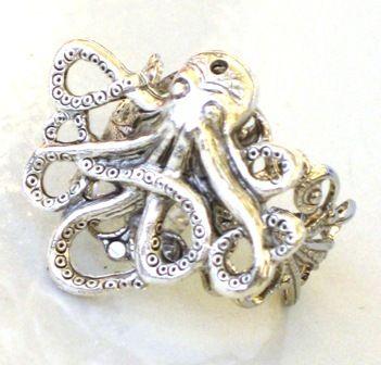 Steampunk Octopus Ring Nauctical Ocean Sea Creature As   eBay