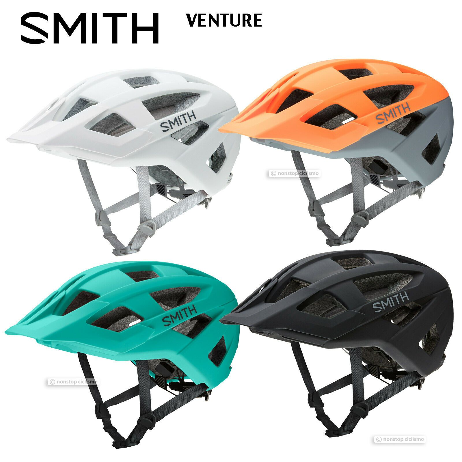 New 2019 Smith Optics Venture Mtb Mountain Bike Helmet All