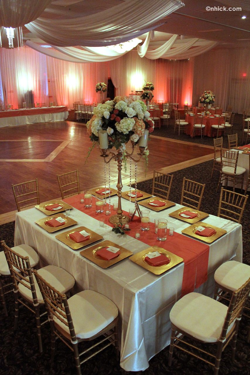 Table Setting Example Wedding Pinterest Coral