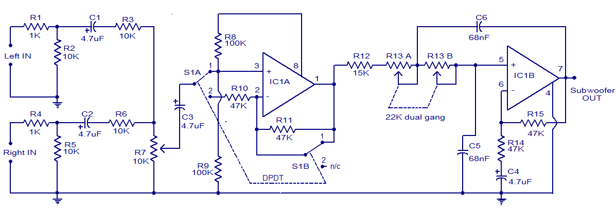 TL072 Car Subwoofer Filter Circuit | DIY BI-POLAR Amplifiers ...