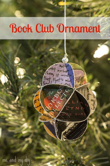 Lovely Book Club Christmas Party Ideas Part - 7: Book Club Ornament At Me And My DIY- Could This Be Adapted To Using Pictures