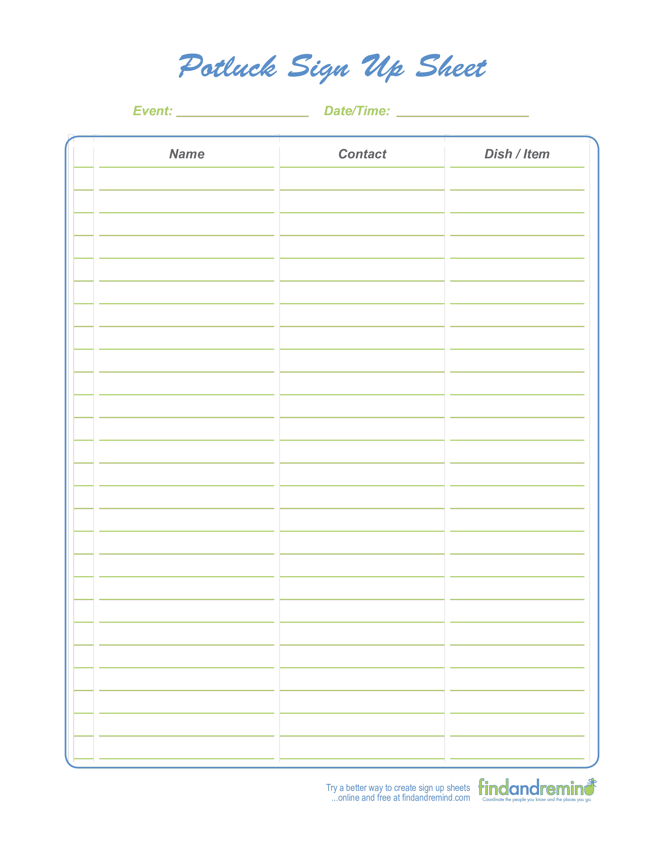 New Signing Sheet Template Exceltemplate Xls