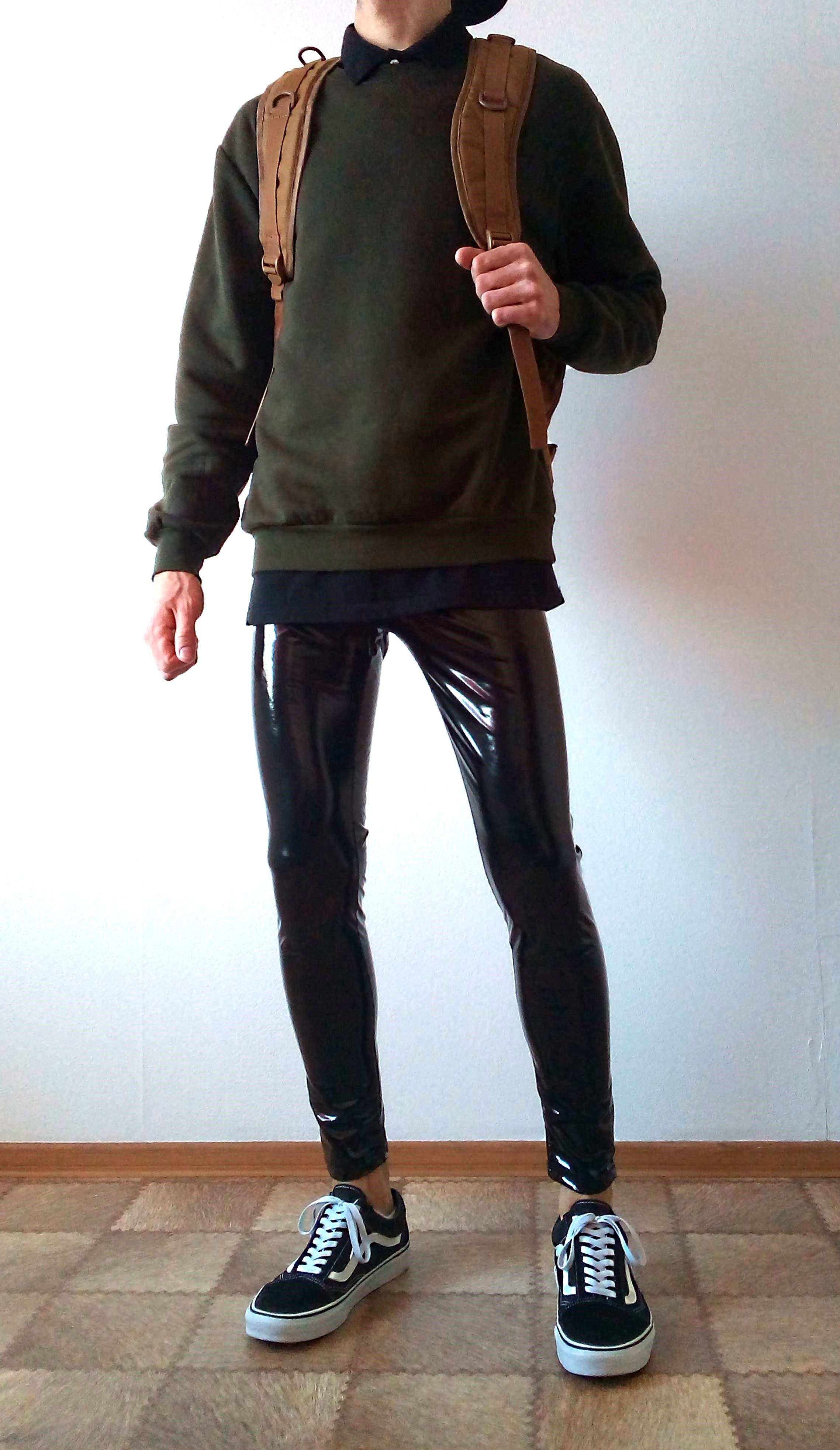 vans leather hombre