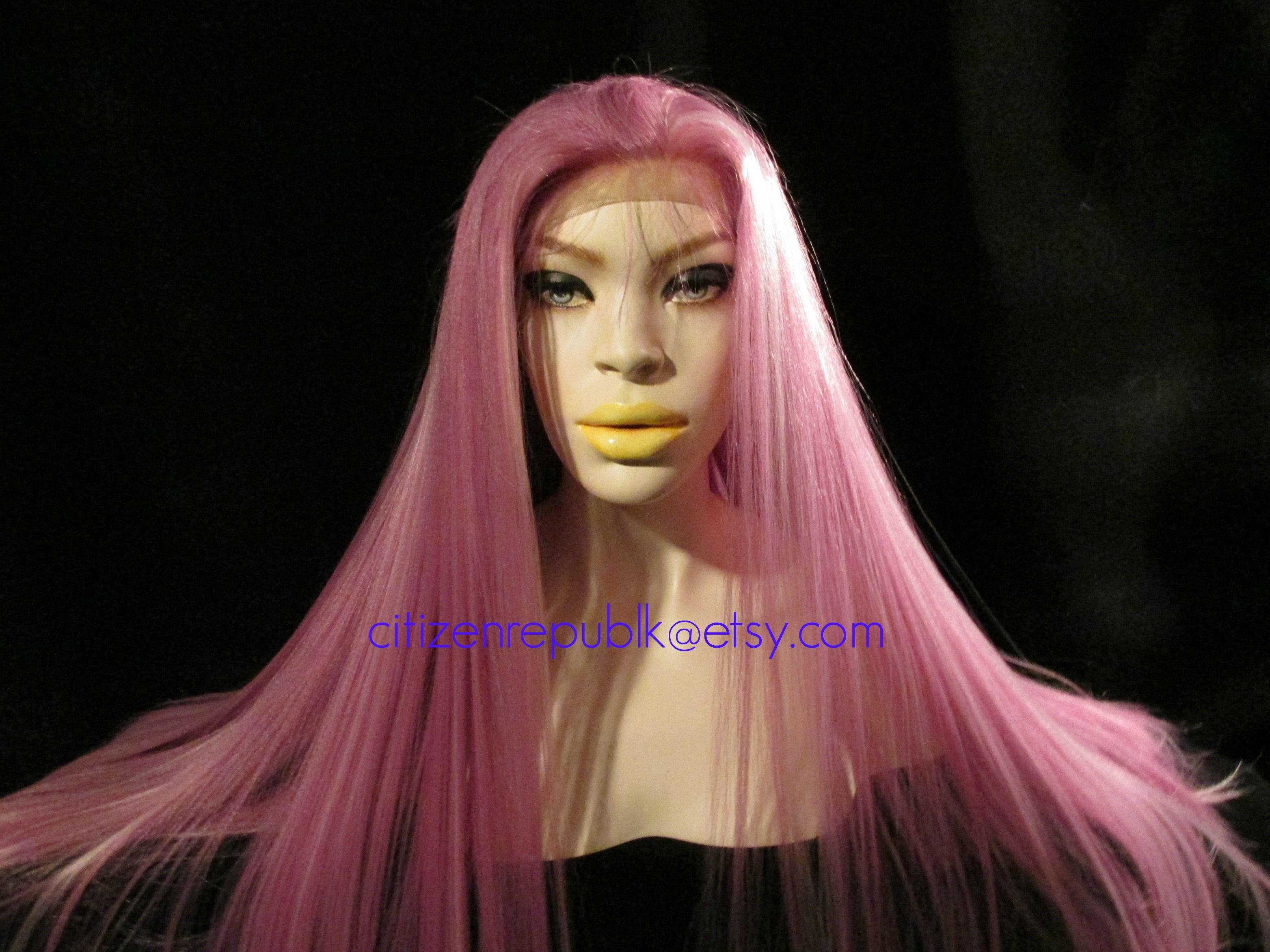 beautiful pink hair. hair is multifaceted. pictures do her no justice. www.citizenrepublk.etsy.com