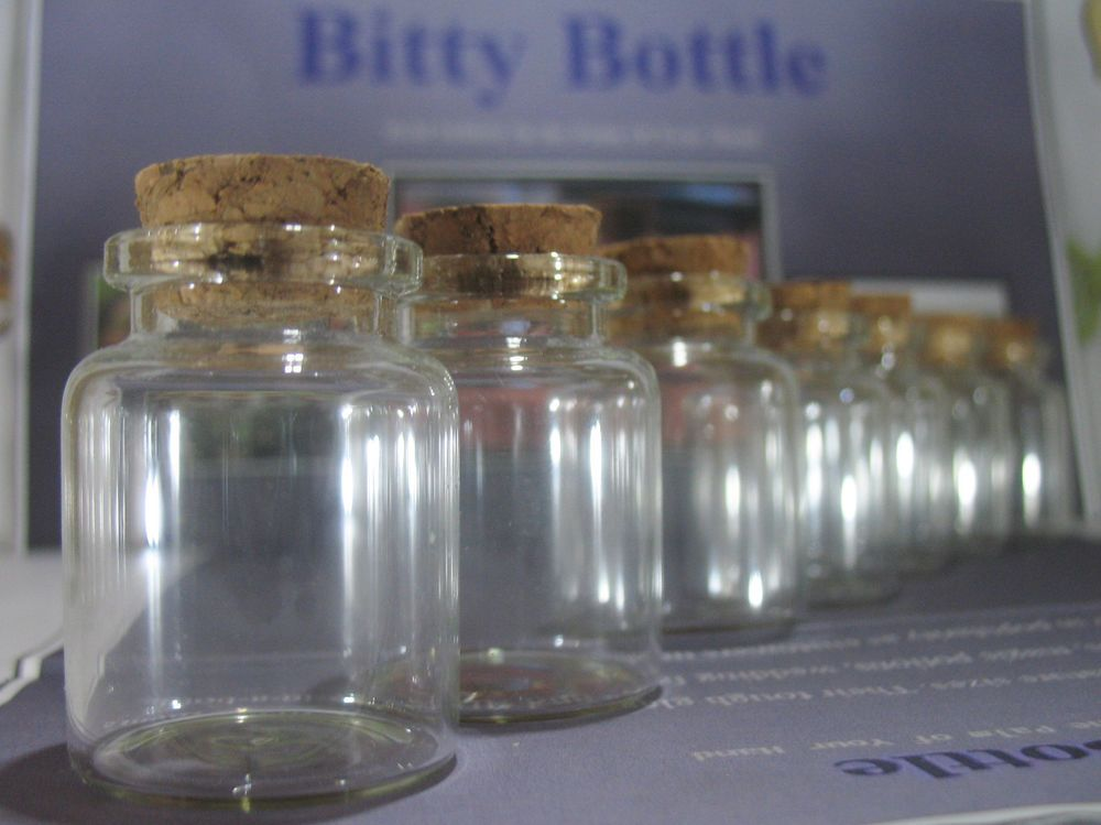 Wholesale Decorative Glass Bottles 100 5Ml Vialsempty Corked Glass Bottlesweddingbittybottle