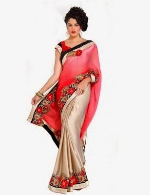 bae6c8abac Pin by Aapka Bazar on Flipkart Offers | Saree, Sari, Pink saree