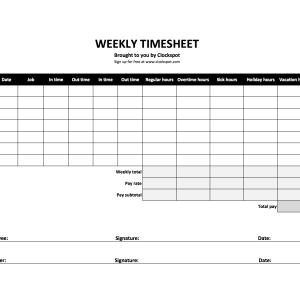 Simple Time Card New Simple Timesheet Of Printable Weekly Timesheet Template Uma Konoplja Co Unique Simple Timesheet Template Time Sheet Printable Templates