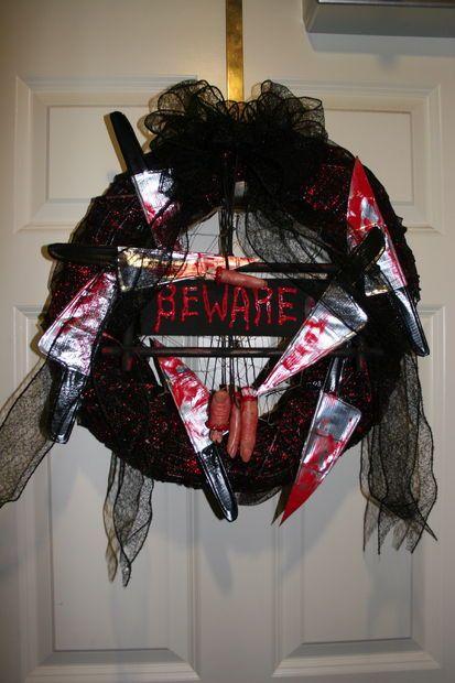 Gena Rumple\u0027s Halloween Horror Wreath Tutorial Halloween horror