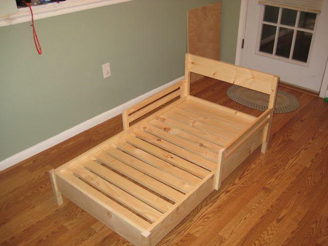 Diy Toddler Bed Part - 22: Daddy Daze Blog: Easy DIY Toddler Bed