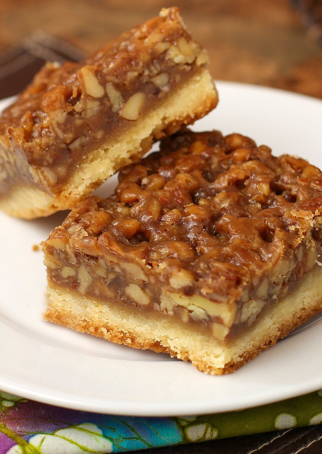 "<a href=""http://www.theslowroasteditalian.com/2013/01/the-best-ever-pecan-bars.html""><strong>The Best Ever Pecan Pie Bars</strong></a> are so good people offer to pay me for them."