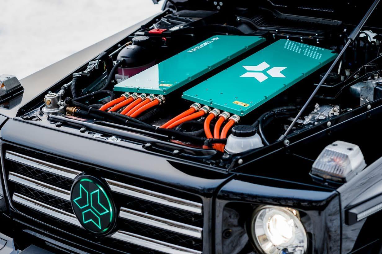 Kreisel And Schwarzenegger Reveal 483 Hp 190 Mile All Electric G Class G Class Mercedes Benz G Class Mercedes G Class Suv