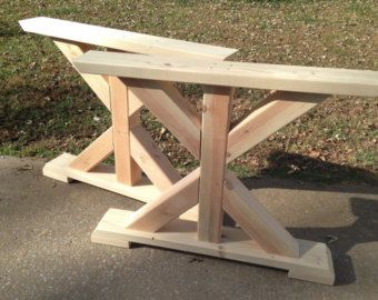 Farmhouse X Frame Table Legs Wood By MoritzWoodworks