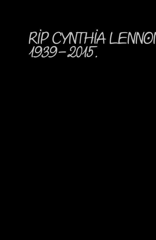 RIP CYNTHIA LENNON