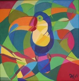 Lonely Toucan Lara Meissirel Art Moderne Art Cubiste Art